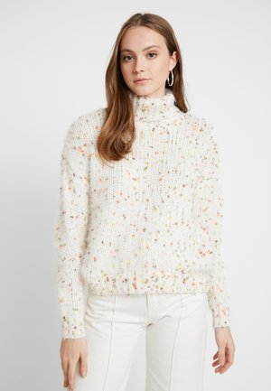 VIMULTI COWLNECK  - Pullover - cloud dancer/multi
