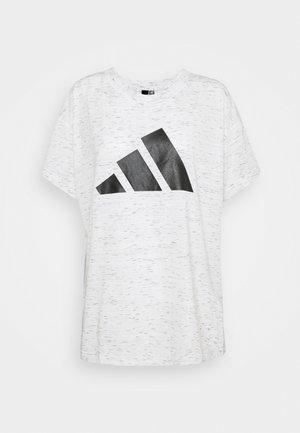 WIN TEE - T-shirts print - white melange