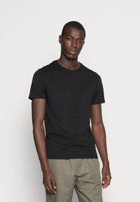 Pier One - 5 PACK - T-shirt basic - black - 1