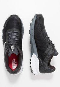The North Face - FLIGHT TRINITY - Trail running shoes - dark shadow grey/black - 1