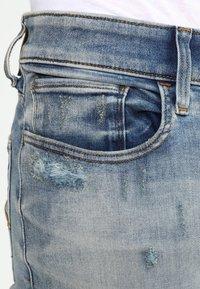 G-Star - 3301 DECONSTRUCTED SUPER SLIM - Slim fit jeans - blue denim - 3