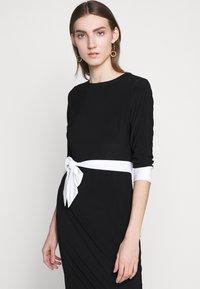 Lauren Ralph Lauren - CLASSIC TONE DRESS - Jerseyklänning - black/white - 4