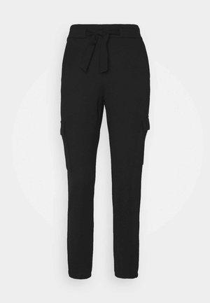 ONLPOPTRASH LIFE BELT PANT - Cargo trousers - black