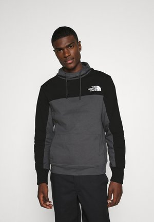 HMLYN HOODIE - Jersey con capucha - vanadis grey/black