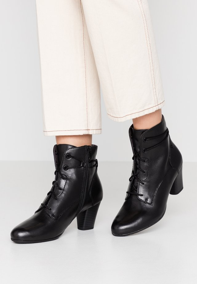 WOMS BOOTS - Botines bajos - black
