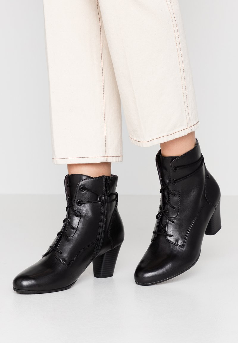 Be Natural - WOMS BOOTS - Botines bajos - black