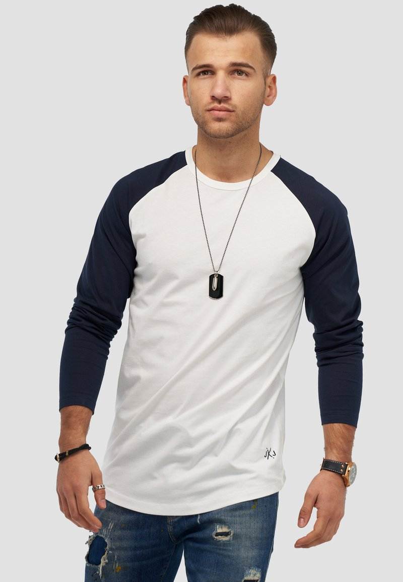 Jack & Jones - MIT RAGLANÄRMELN  - Long sleeved top - white