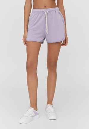 Shorts - mottled dark purple