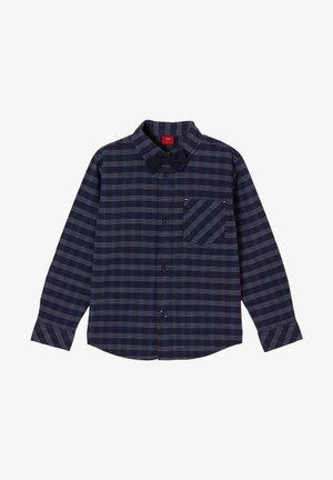 Shirt - dark blue check