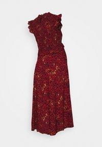 Pieces Maternity - PCMMARIGOLD MIDI DRESS - Vestido ligero - black/pompeian red - 1