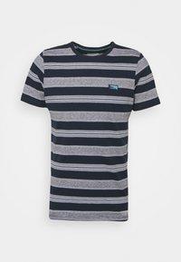Jack & Jones - JCOFLAME TEE CREW NECK - Print T-shirt - navy blazer - 3