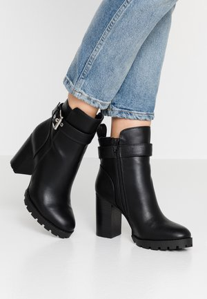 FELICITY - High heeled ankle boots - black
