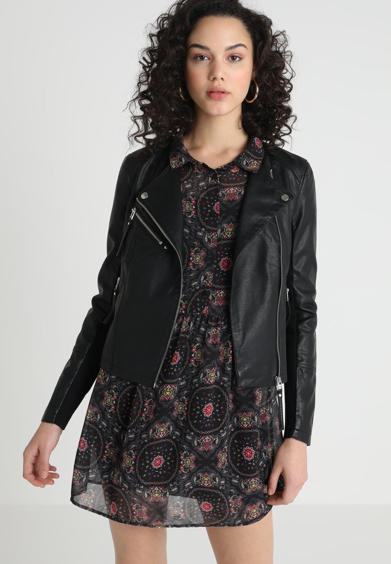 Vero Moda - VMRIA SHORT JACKET - Faux leather jacket - black