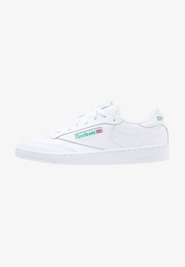 CLUB C 85 LEATHER UPPER SHOES - Sneaker low - white/green