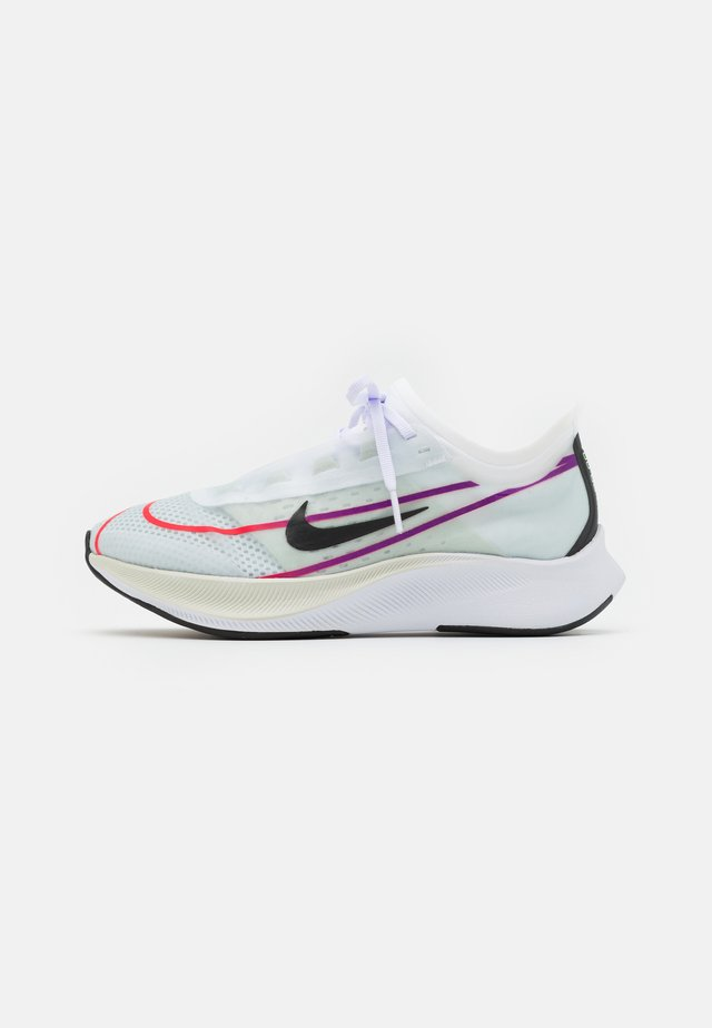 ZOOM FLY 3 - Nøytrale løpesko - white/black/hyper violet/flash crimson