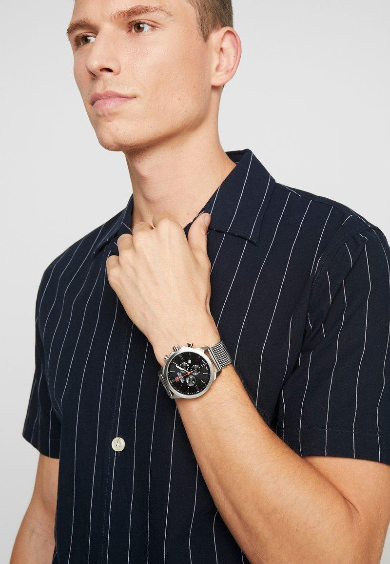 Swiss Military Hanowa - CLASSIC - Chronograph watch - silver/black