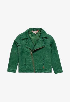 Imitatieleren jas - green
