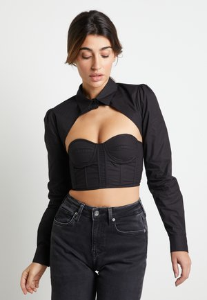 DUA LIPA X PEPE JEANS - Button-down blouse - black