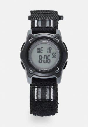 KID'S DOUBLE LAYER STRIPED FABRIC STRAP WATCH UNISEX - Digitální hodinky - black