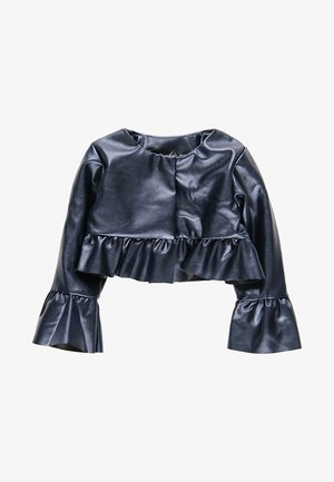 Faux leather jacket - navy