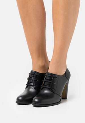 NAVIN - Lace-up heels - noir