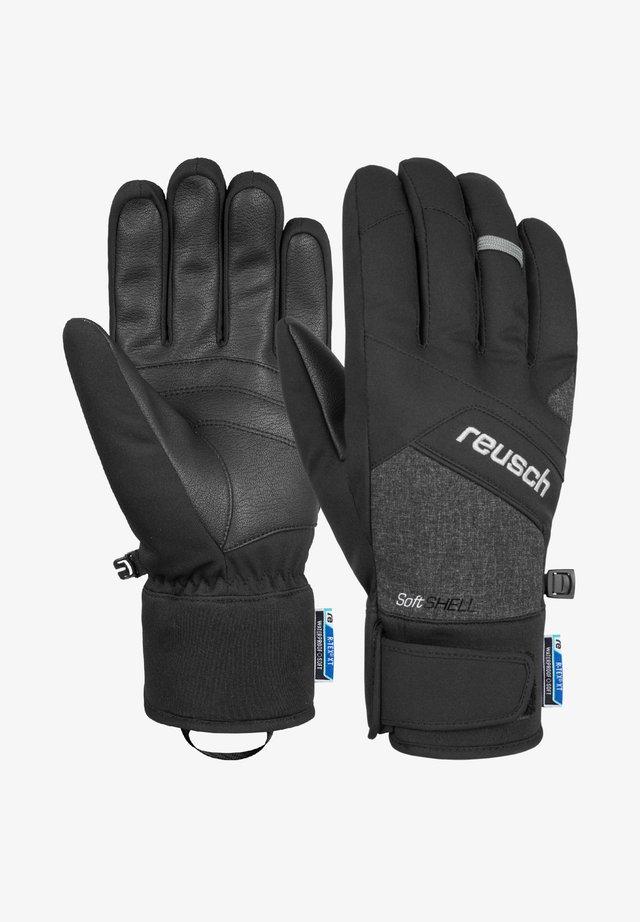 Gloves - black  black melange