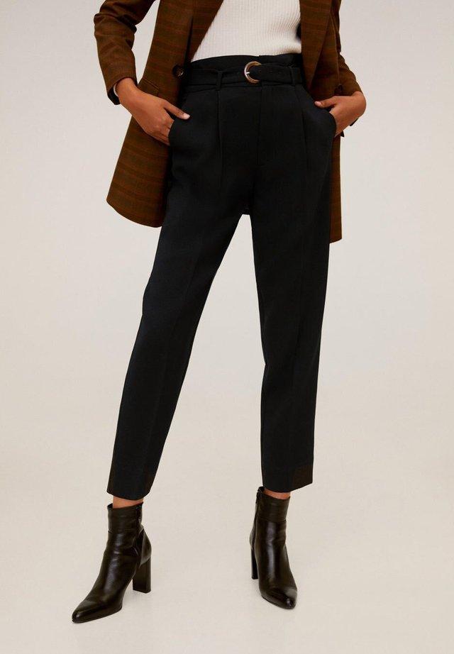 MANUEL - Spodnie materiałowe - schwarz