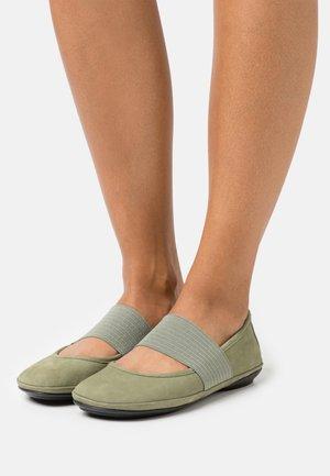 RIGHT NINA - Ankle strap ballet pumps - khaki