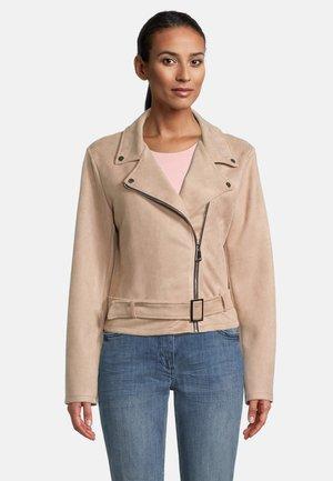 MIT GÜRTEL - Leather jacket - tuscany
