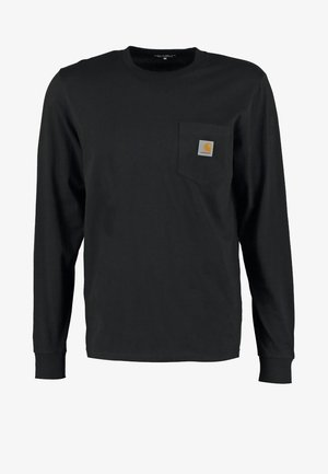 POCKET  - T-shirt à manches longues - black