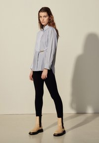 sandro - MADDLY - Button-down blouse - marine/ecru - 0