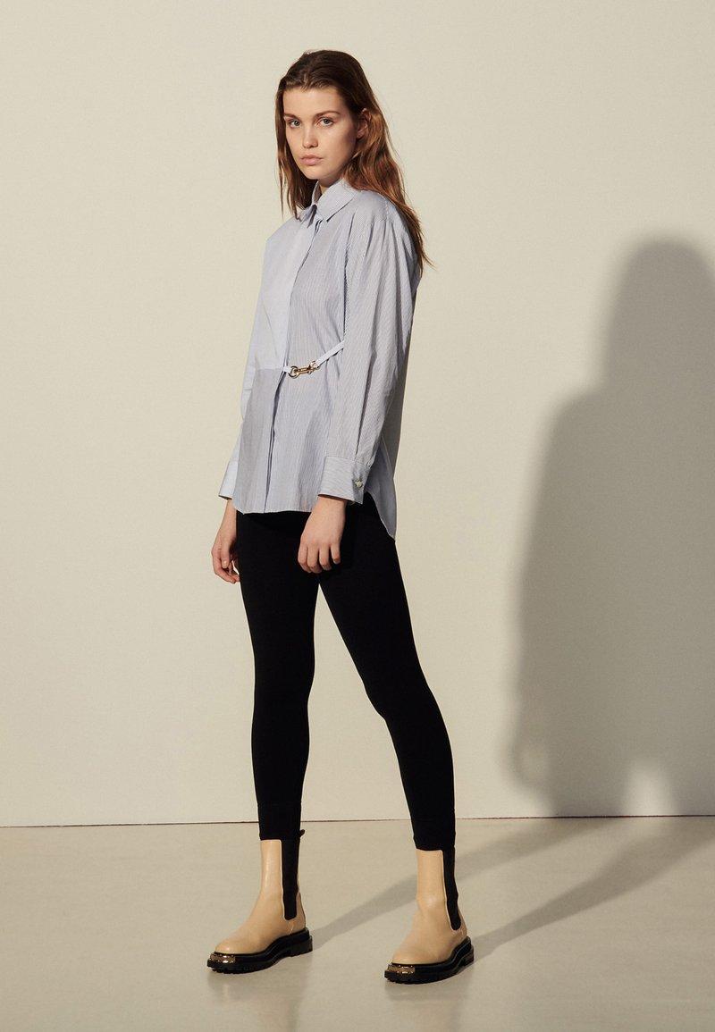 sandro - MADDLY - Button-down blouse - marine/ecru