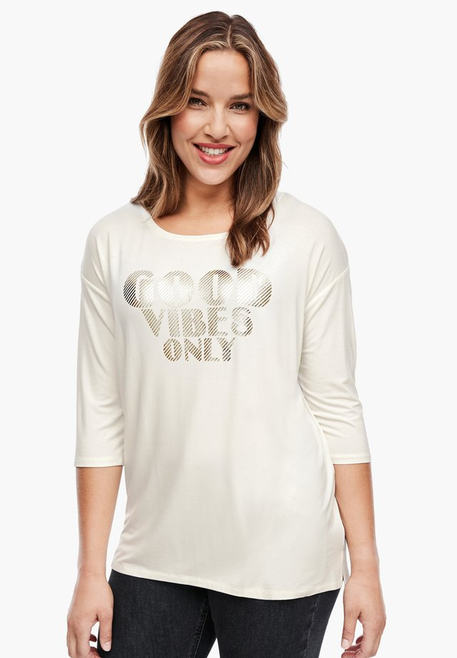 3/4 SLEEVE - Long sleeved top - cream