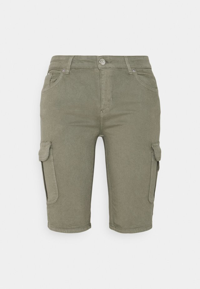 ONLMISSOURI LIFE CARGO - Shorts di jeans - oil green