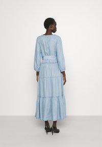 Lauren Ralph Lauren - VAETELL-LONG SLEEVE-DAY DRESS - Maxi dress - indigo mist wash - 2