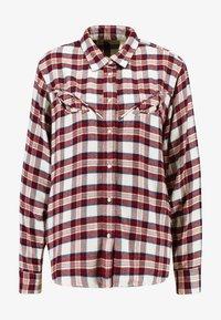 Levi's® - DORI WESTERN SHIRT - Button-down blouse - patridge herringbone_v2 sandshell - 4