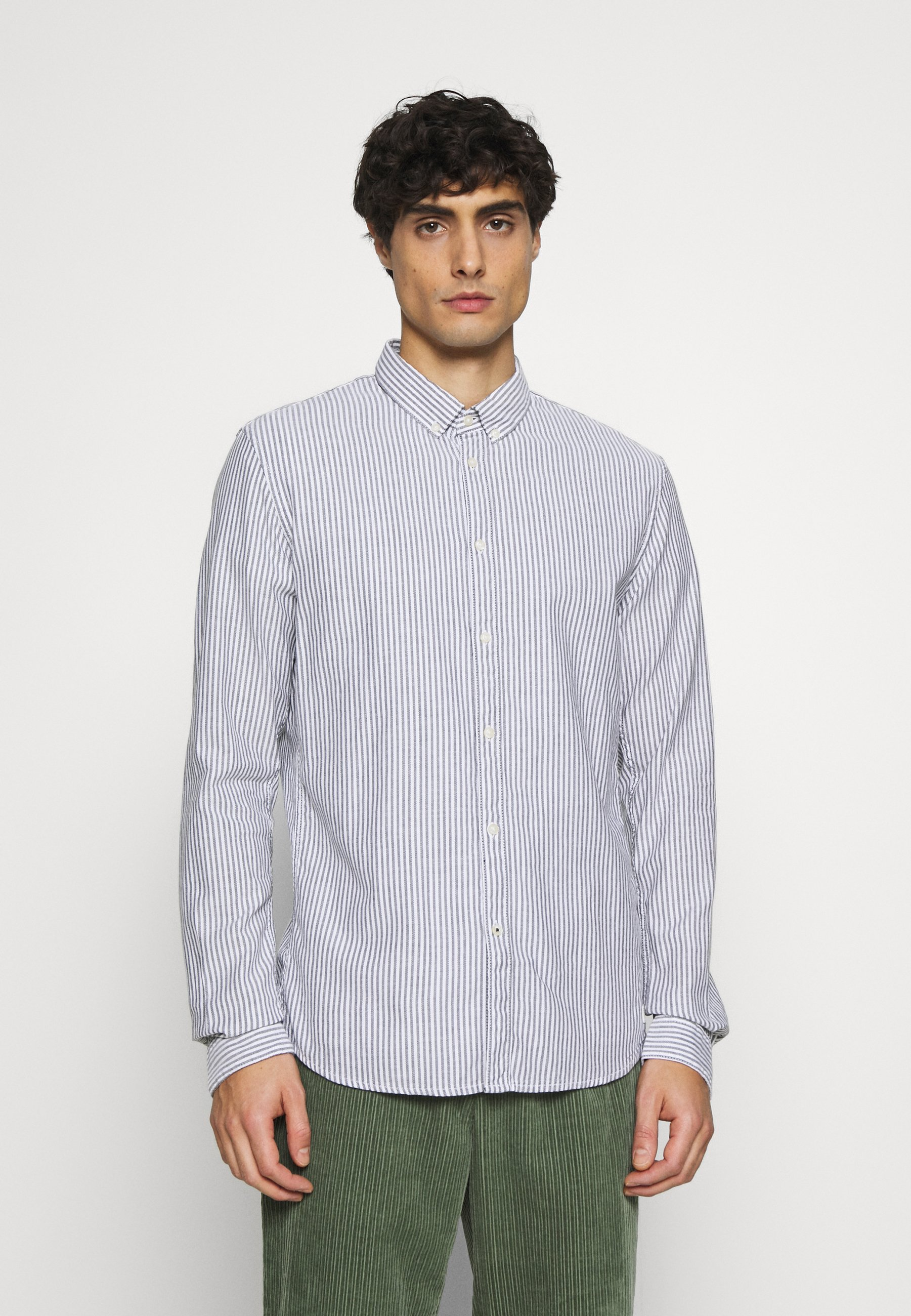 Homme BUTTON DOWN COLLAR - Chemise - navy white
