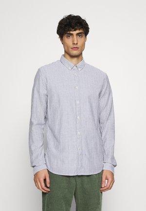 BUTTON DOWN COLLAR - Shirt - navy white