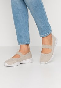Skechers - SEAGER - Ankle strap ballet pumps - natural - 0