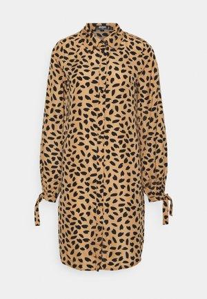 TIE CUFF DRESS DALMATIAN - Day dress - stone
