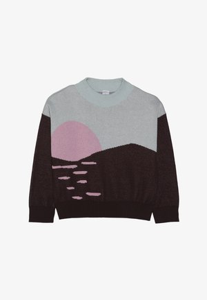 SUNSET  - Kardigan - aubergine/light mint