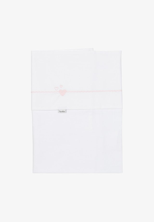 KINDERBETTLAKEN LOTS OF LOVE - Baby blanket - white
