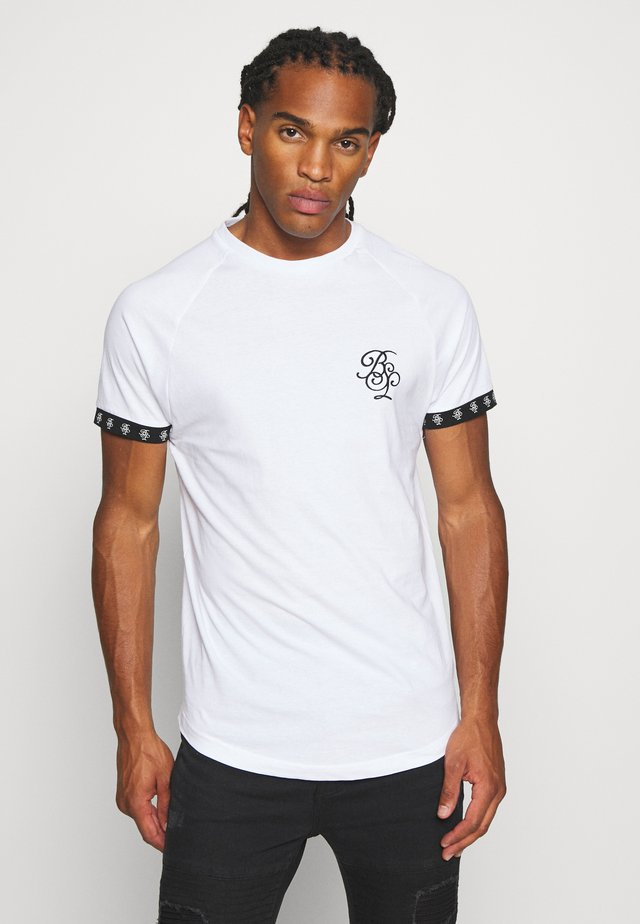 T-shirt med print - optic white/ jet black