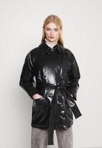 Weekday - JANIS SHORT JACKET - Short coat - black - 0