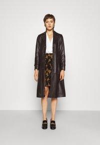 Diane von Furstenberg - LORNA SKIRT - Mini skirt - giant cocoa brown - 1