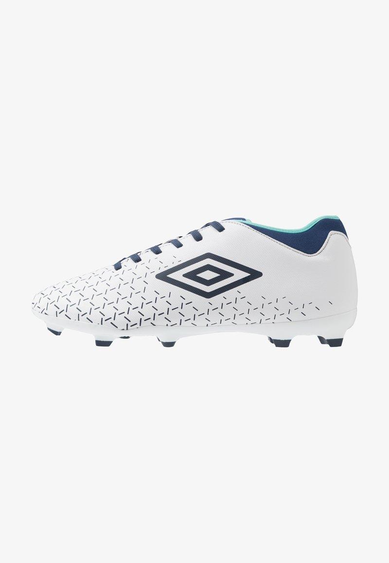 Umbro - VELOCITA CLUB FG - Scarpe da calcetto con tacchetti - white/medieval blue/blue radiance