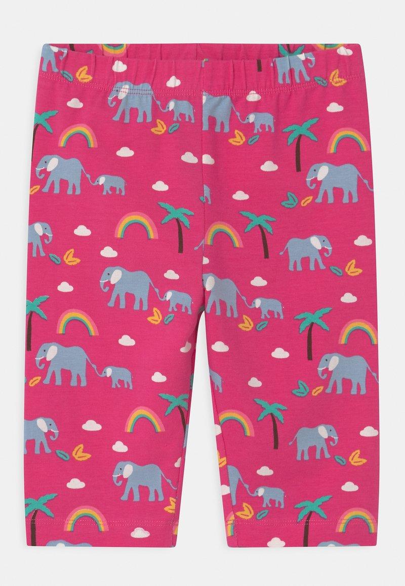 Frugi - LAURIE BIKER ELEPHANTS AND RAINBOWS - Shorts - deep pink
