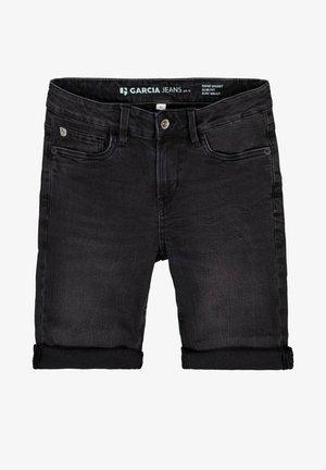 TAVIO - Denim shorts - schwarz