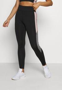 New Look - COLOUR BLOCK - Leggings - mid pink - 0