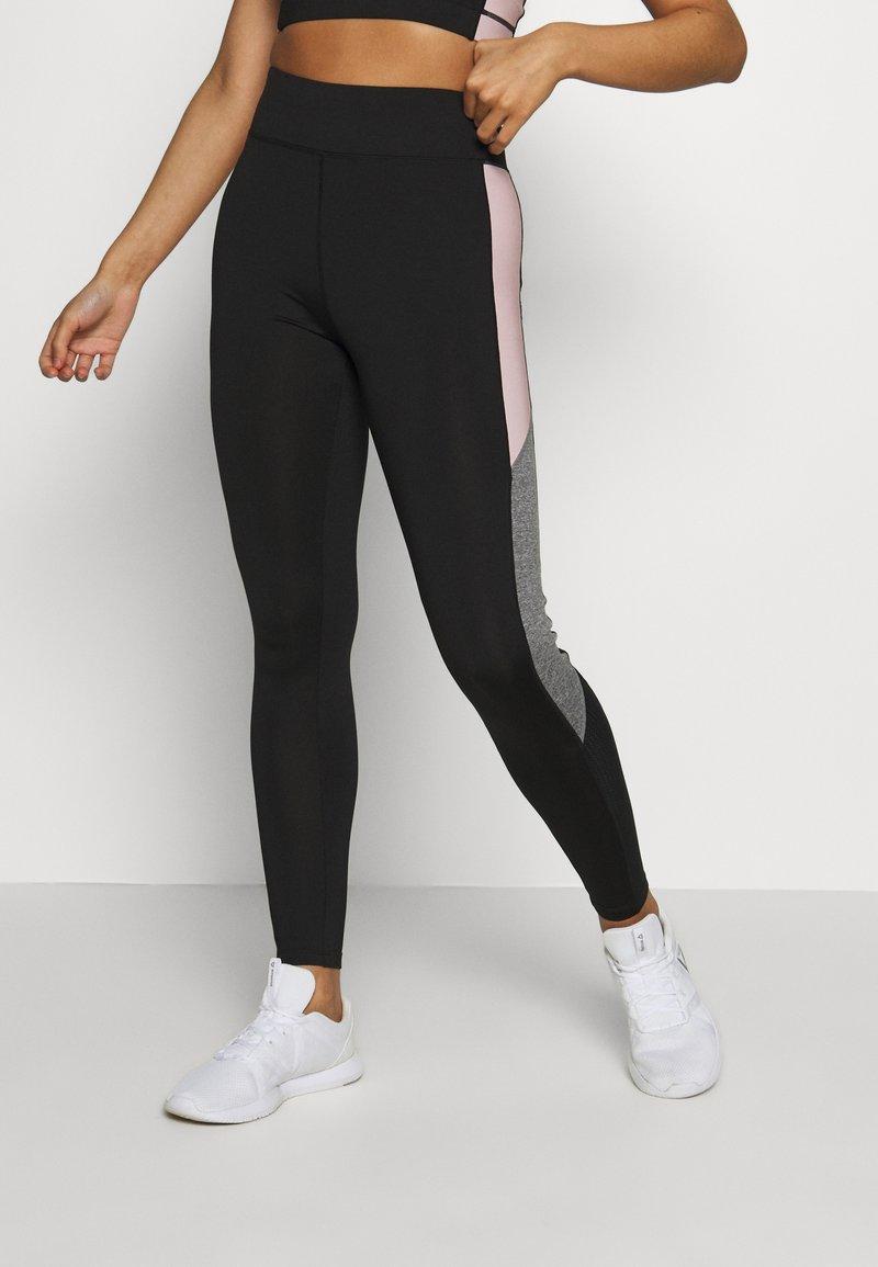 New Look - COLOUR BLOCK - Leggings - mid pink